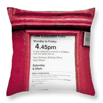 Collection Time 4.45 Pm Throw Pillow by Heiko Koehrer-Wagner