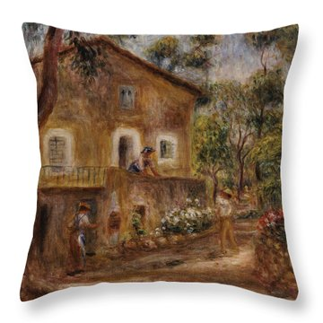 Collette's House At Cagne Throw Pillow by Pierre Auguste Renoir