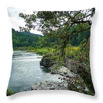 Colliding Rivers Throw Pillow by Methune Hively