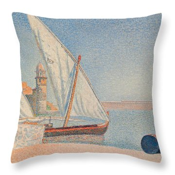 Collioure Les Balancelles Throw Pillow by Paul Signac