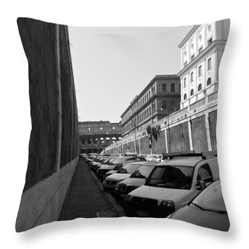 Throw Pillow featuring the photograph Colliseum by Laurel Best