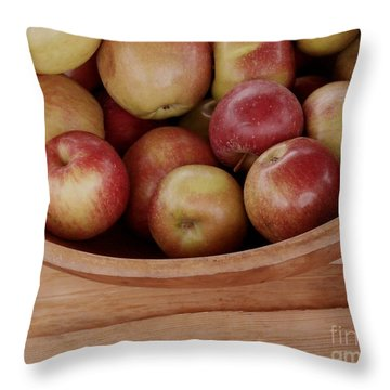 Colonial Apples Throw Pillow
