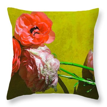Color 83 Throw Pillow by Pamela Cooper