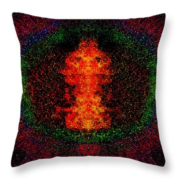 Color Burst Throw Pillow by Christopher Gaston