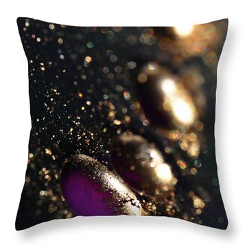 Color Drops Throw Pillow by Sylvie Leandre