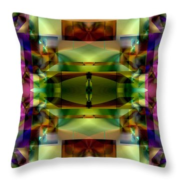 Color Genesis 1 Throw Pillow