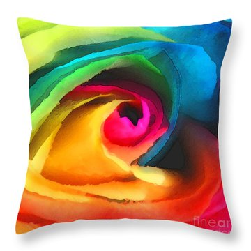 Color Launch Throw Pillow by ME Kozdron
