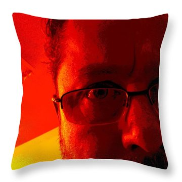 Throw Pillow featuring the photograph Color Me Bad by Jeff Iverson