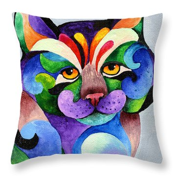 Color Me Smug Throw Pillow