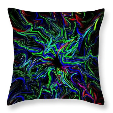 Throw Pillow featuring the digital art Color Of Light by Greg Moores