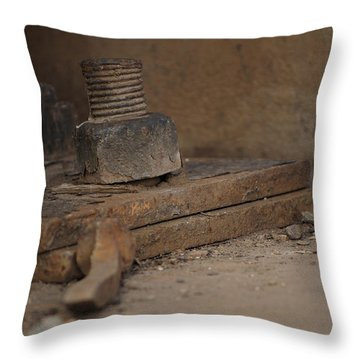 Throw Pillow featuring the photograph Color Of Steel 1 by Fran Riley