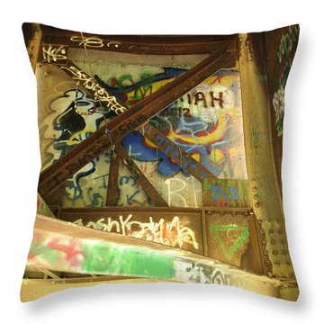 Throw Pillow featuring the photograph Color Of Steel 8 by Fran Riley