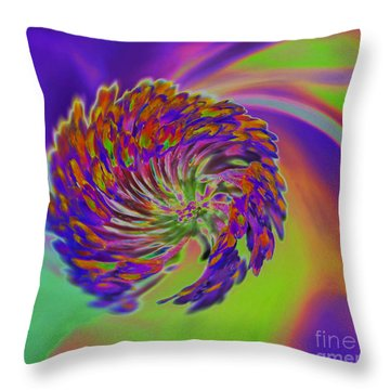 Color Splash Throw Pillow by Cindy Manero