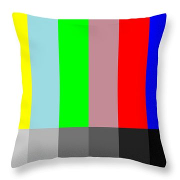 Color Vs Grayscale Throw Pillow by Saad Hasnain