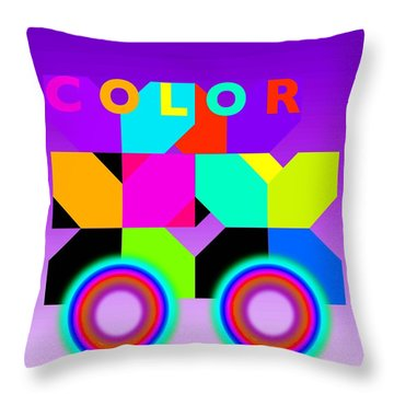 Color Wheels Throw Pillow