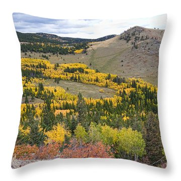 Colorado Autumn Aspens Colors Throw Pillow by James BO  Insogna