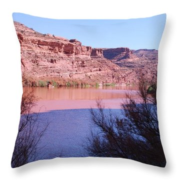 Colorado River After Rain - Utah Throw Pillow