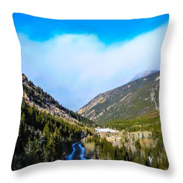 Throw Pillow featuring the photograph Colorado Road by Shannon Harrington