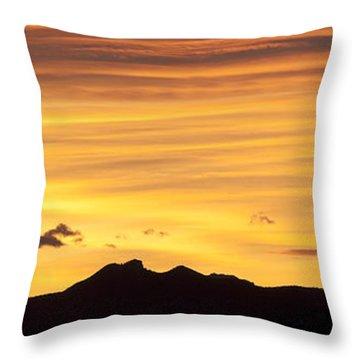 Colorado Sunrise Landscape Throw Pillow by Beth Riser