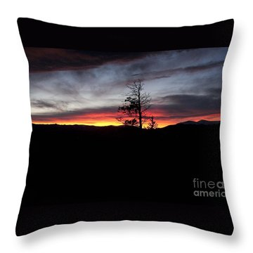 Colorado Sunset Throw Pillow