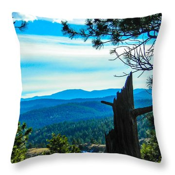 Throw Pillow featuring the photograph Colorado View by Shannon Harrington