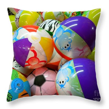 Throw Pillow featuring the photograph Colorful Balls by Renee Trenholm