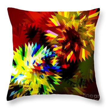 Colorful Blade Throw Pillow by Atiketta Sangasaeng