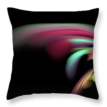 Throw Pillow featuring the digital art Colorful Flash by Ester  Rogers