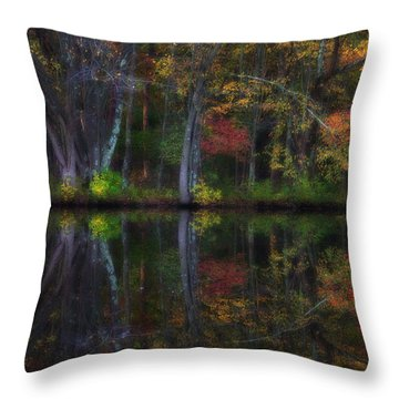 Colorful Forest Throw Pillow by Karol Livote