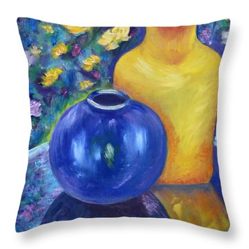 Colorful Jars Throw Pillow