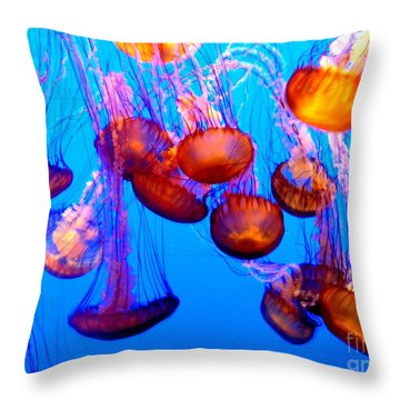 Colorful Jellies Throw Pillow by Ellen Heaverlo