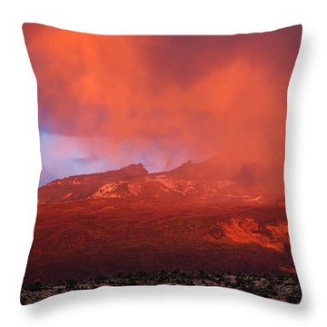 Colorful Mountain Clouds Throw Pillow