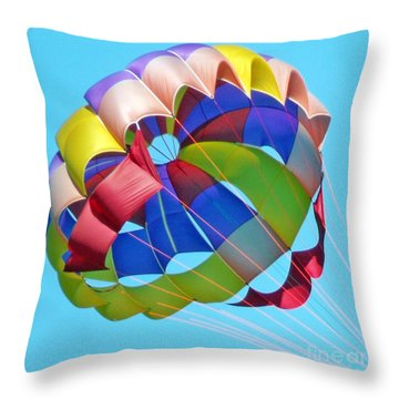 Colorful Parachute Throw Pillow