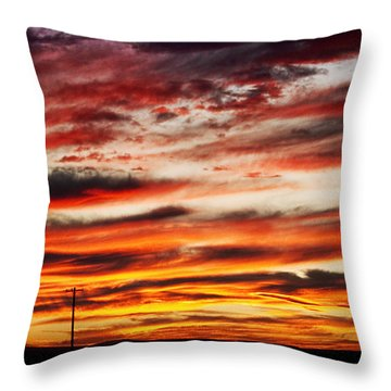 Colorful Rural Country Sunrise Throw Pillow by James BO  Insogna
