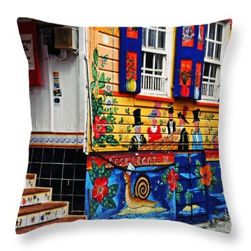Colorful Whimsy  Throw Pillow