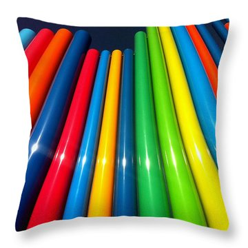 Smiling Colors Throw Pillow