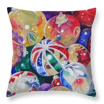 Colors Of Christmas ...sold  Throw Pillow
