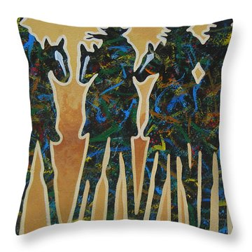 Colors Of Four Throw Pillow by Lance Headlee