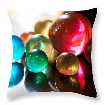 Colors Of Life Throw Pillow by Syed Aqueel