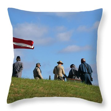 Throw Pillow featuring the photograph Colors Of Yesteryear by Paul Mashburn