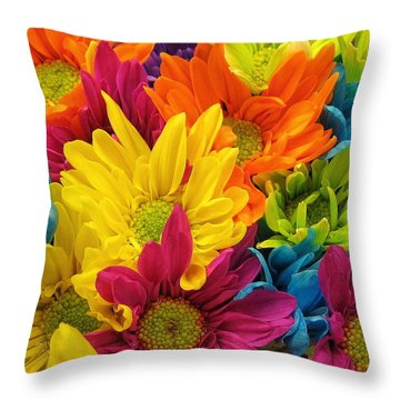 Colossal Colors Throw Pillow