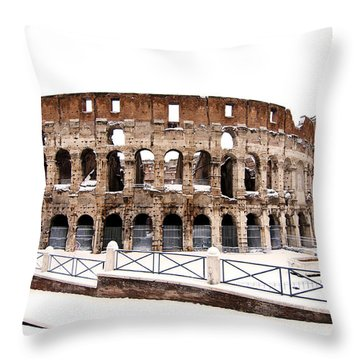 Colosseum Throw Pillow by Fabrizio Troiani
