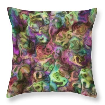 Colour Aquatica Throw Pillow