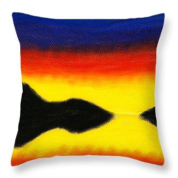 Colours Of Sky 2 Throw Pillow by Hakon Soreide