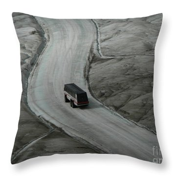 Columbia Icefield Glacier Adventure Throw Pillow