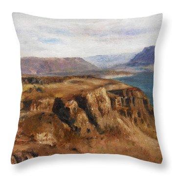 Columbia River Gorge I Throw Pillow