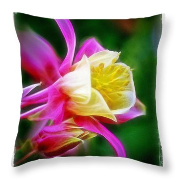 Throw Pillow featuring the photograph Columbine by Judi Bagwell