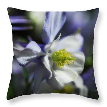 Columbine  Throw Pillow by Saija  Lehtonen