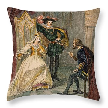 Columbus & Isabella, 1492 Throw Pillow