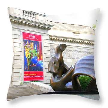 Columbus Museum Of Art Throw Pillow by Laurel Talabere